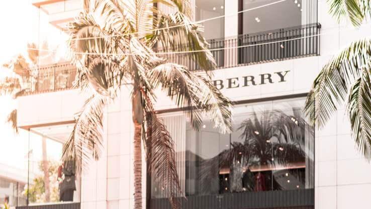 Burberry store logo.