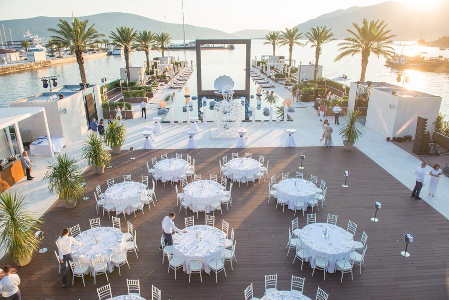 Porto Montenegro pool venue event