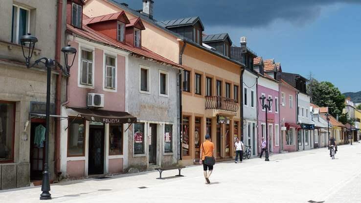 Cetinje town in Montenegro