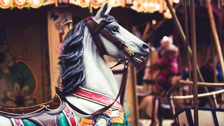 Horse on a carousel