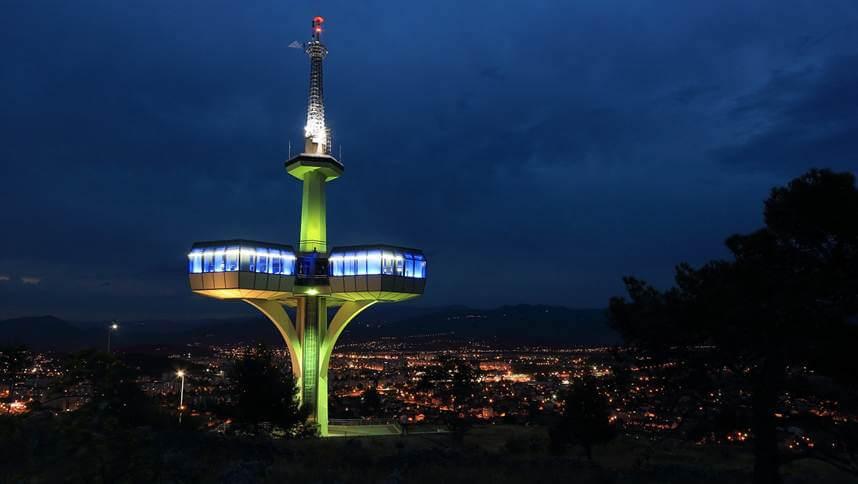 Podgorica tower at night
