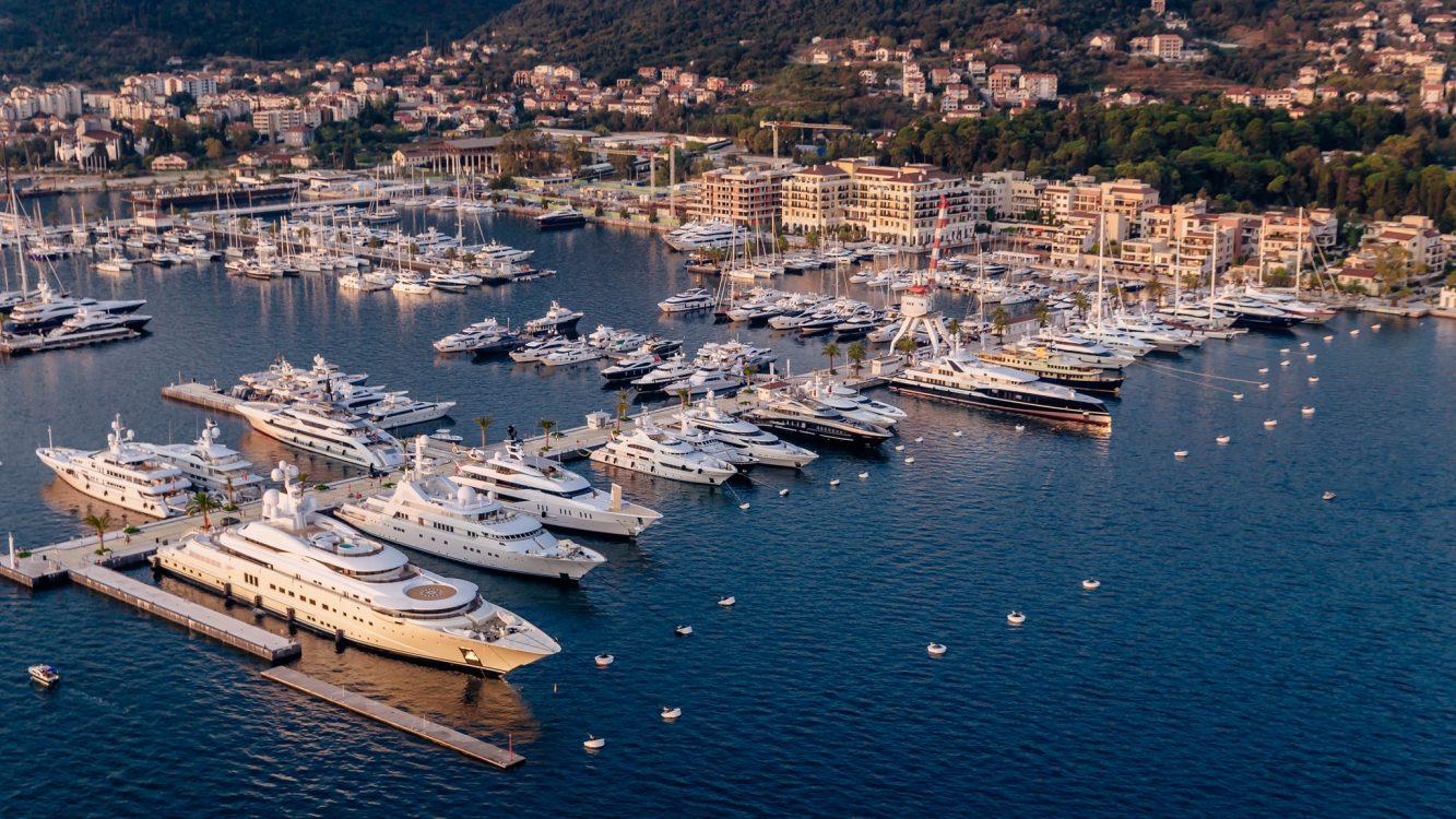Yachts in Porto Montenegro