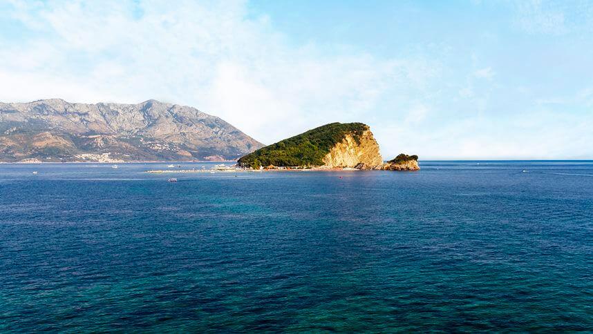 Saint Nicholas island in Montenegro