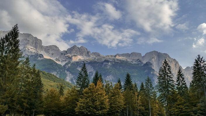 Hiking peeks mountain in Montenegro