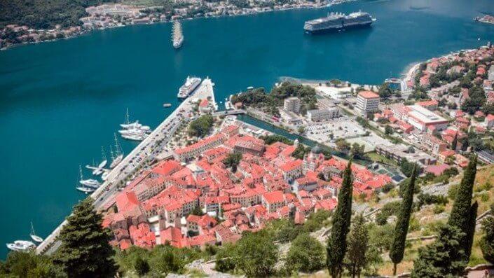 Viewpoint of Kotor in Montenegro