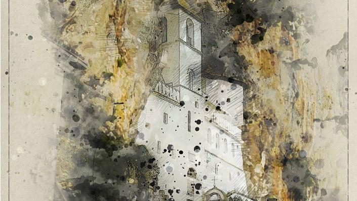 Ostrog monastery in Monte Negro