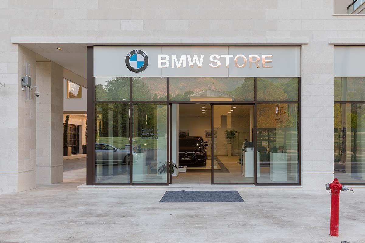 BMW store shop window