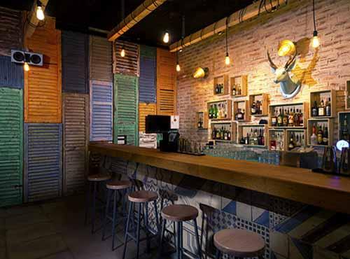 The Clubhouse bar interior in Porto Montenegro