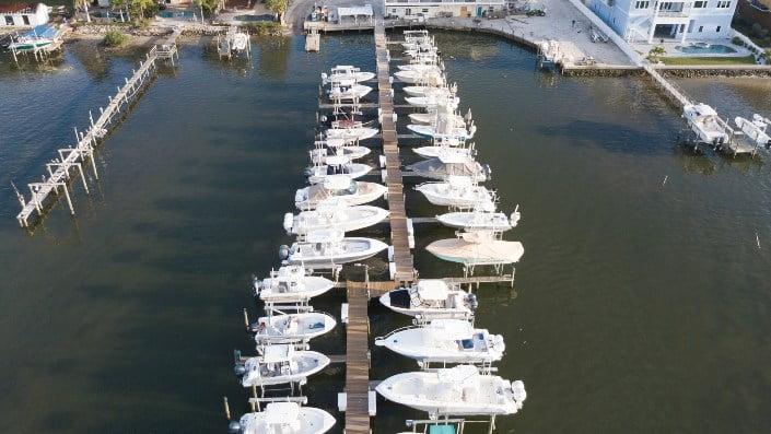 Boats mooring