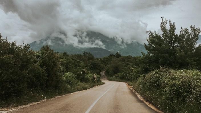 A road to Biogradska Gora in Montenegro