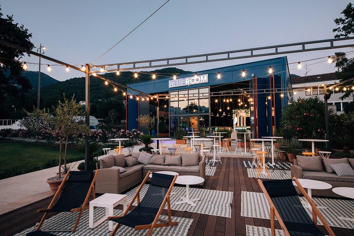 Look of Blue Room venue in Porto Montenegro