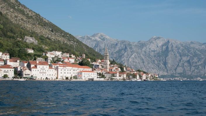 Boka bay Adriatic sea