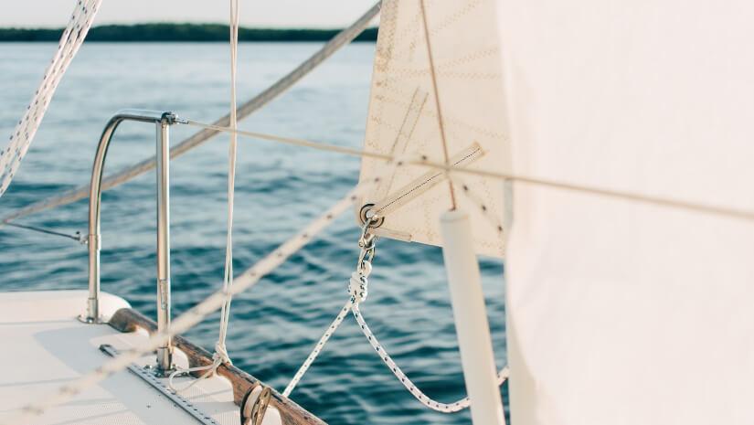Part of sail boat