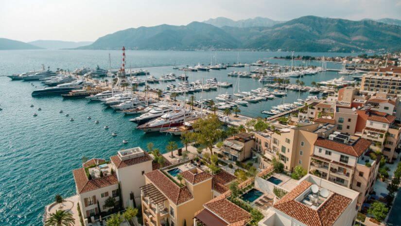 The look of berths in Porto Montenegro
